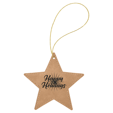 Leatherette Star Ornaments