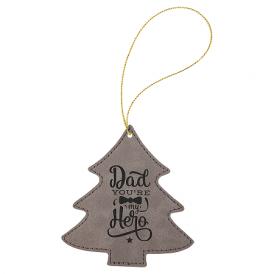 Leatherette Tree Ornaments