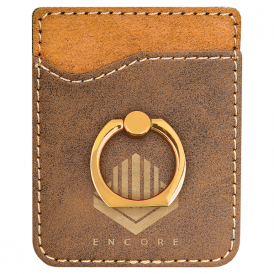 Laserable Leatherette Phone Wallet with Ring