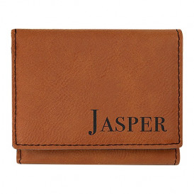 Laserable Leatherette Trifold Wallets