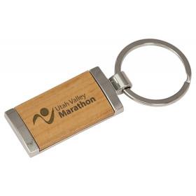 Silver/Wood Keychain