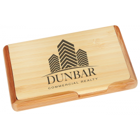 Bamboo Business Card Holder