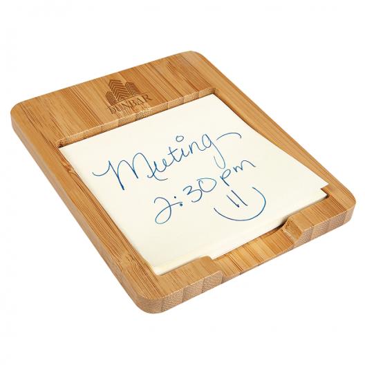 Bamboo Desk Note Holder