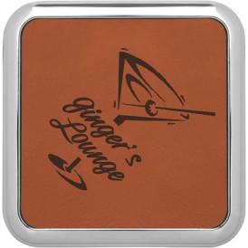 Leatherette Metallic Edge Coasters