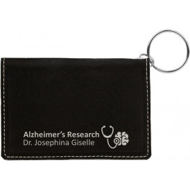 Laserable Leatherette ID Holder Keychains