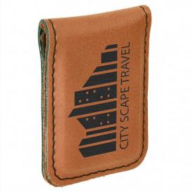Laserable Leatherette Money Clips