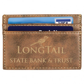 Laserable Leatherette Wallet Clip