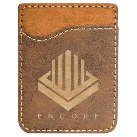 Laserable Leatherette Phone Wallets