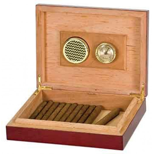 Rosewood Piano Finish Humidor with Hygrometer & Humidifier