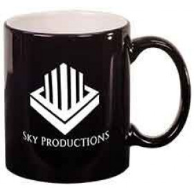 LazerMug 11 oz Round Laserable Ceramic Mugs