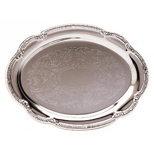 Chrome-Plated Oval Tray