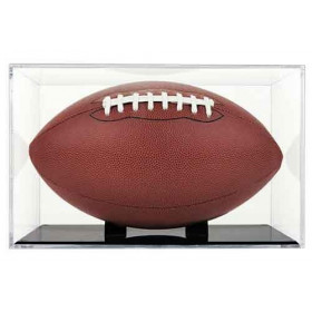 Football Display Case with Grandstand Holder