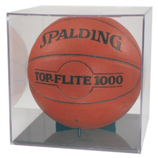 Basketball/Soccer Ball Display Case with Grandstand Holder