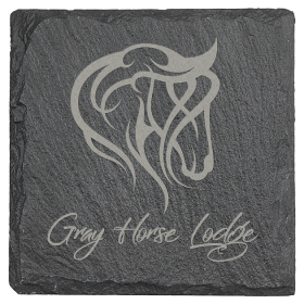 Slate Coaster with Foam Pads