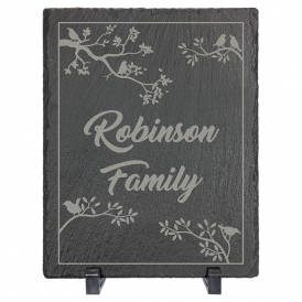 Rectangle Slate Decor with Foam Pads & Stands