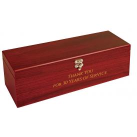 Rosewood Finish Single Wine Box