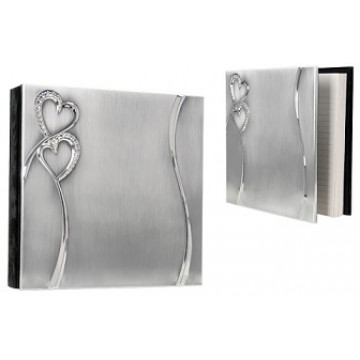 """""""Hearts"""" 40 Page Guest Book"""