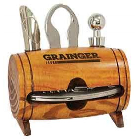 Barrel Wine 4-Piece Wine Tool Set