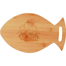 Fish Shaped Bamboo Cutting Board