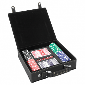 Laserable Leatherette Poker Sets