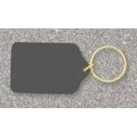 Black Brass Engravable Keychain