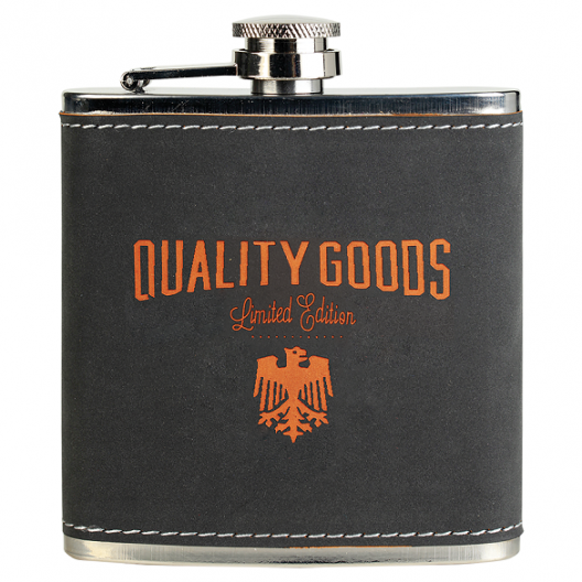 6 oz. Textured Stainless Steel Flask