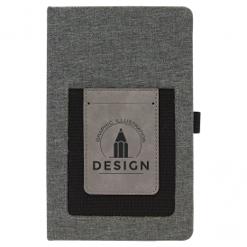 Leatherette Journal with Cell/Card Slot