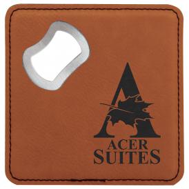 Leatherette Bottle Opener Coaster