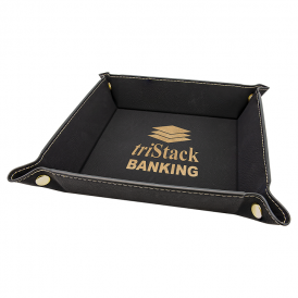 Laserable Leatherette Snap Up Tray
