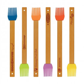 Silicone Baster Brush with Bamboo Handle Sample Set