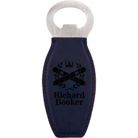 Leatherette Bottle Opener with Magnet