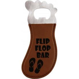 Leatherette Foot Shaped Bottle Opener with Magnet