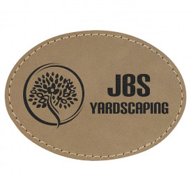 Laserable Leatherette Oval Patches