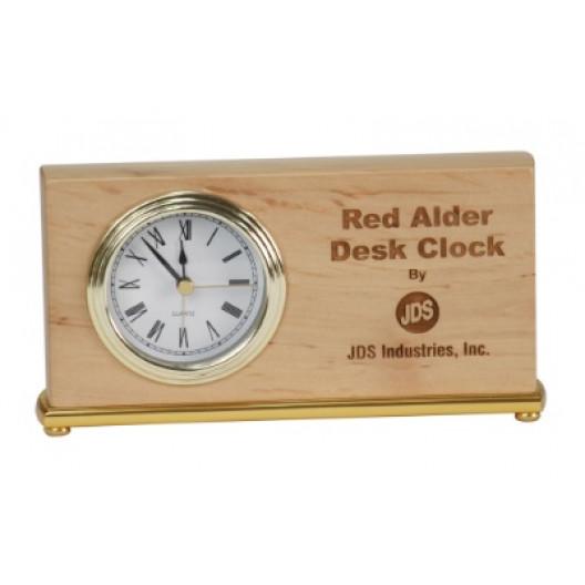 Red Alder Horizontal Desk Clock