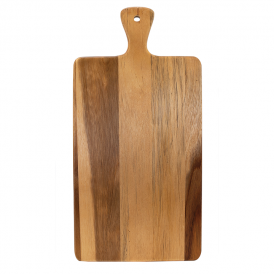 Acacia Wood/Slate Cutting Board w/ Handle