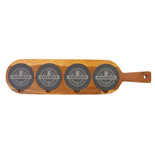 Acacia Wood/Slate Serving Board