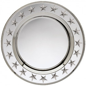 Silver Plated Star Plate w/ Gold Edge