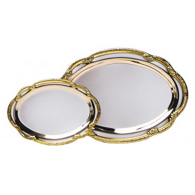 Silver Plated Tray w/ Gold Border