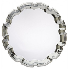 Decorative Round Chrome Tray