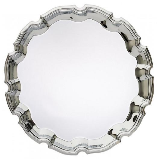 Decorative Round Chrome Tray