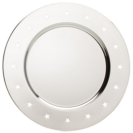 Punched Stars Chrome Plate