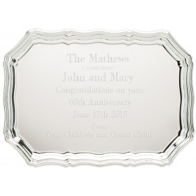 Chrome Plated Scalloped Tray