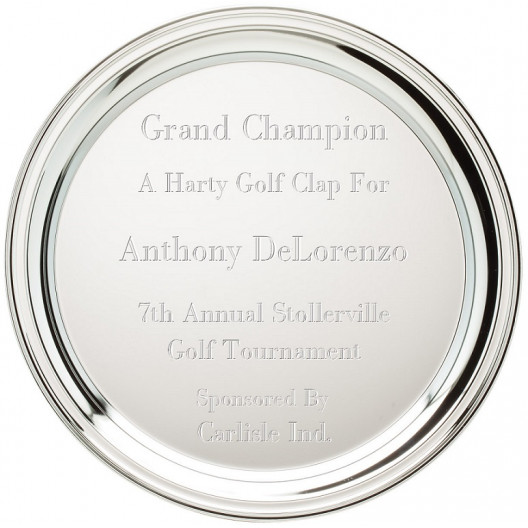 Round Chrome Plated Tray