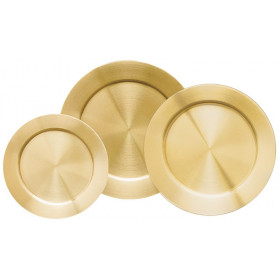 Solid Satin Brass Tray