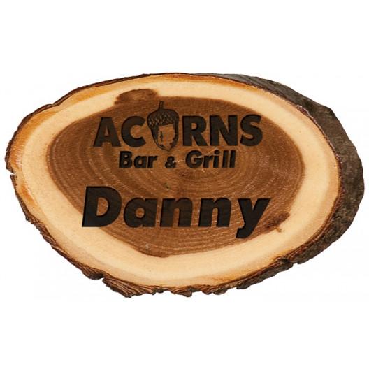 Oval Wood Name Badge