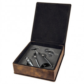 Leatherette 3-Piece Wine Tool Gift Set