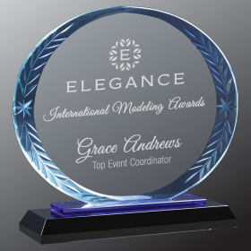 Oval Accent Glass Award
