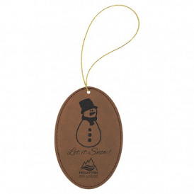 Leatherette Oval Ornaments