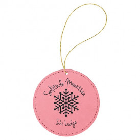 Leatherette Round Ornaments