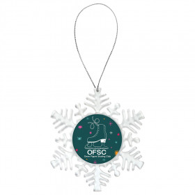 "Clear Snowflake Ornament with 2"" Insert Holder"